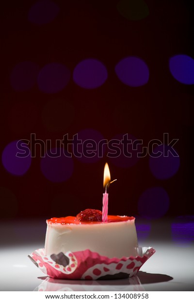 Fine Happy Birthday Cake Shot On Red Food And Drink Stock Image Personalised Birthday Cards Cominlily Jamesorg