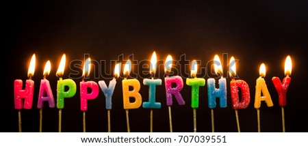 Happy Birthday Candle On Fire