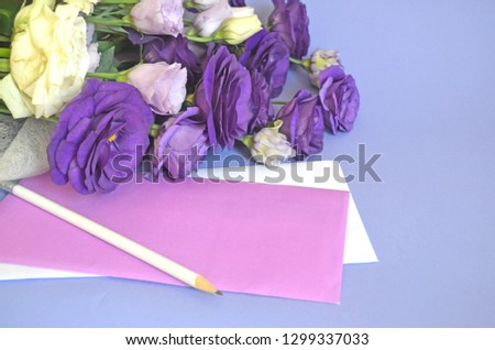 Happy Birthday Card Greeting And Congratulation Romantic Bouquet For Darling Sign Copy