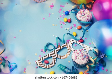 Happy birthday concept with copy space