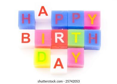 Happy birthday cubes