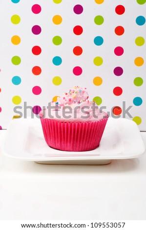 Happy Birthday Cupcake Wallpaper Card Background
