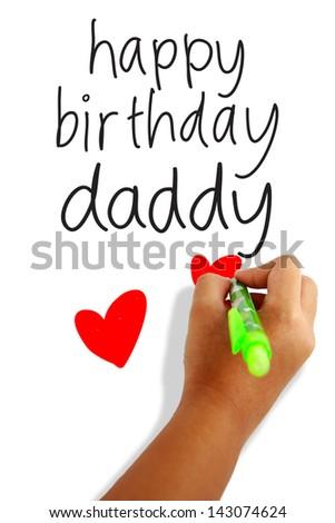 Happy Birthday Dad Greeting Card Stock Photo Edit Now 143074624