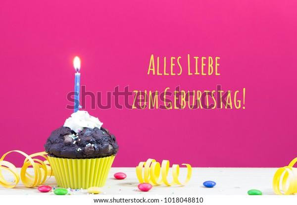 Happy Birthday German Language Stock Photo (Edit Now) 1018048810