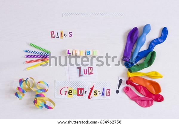 Happy Birthday German Language Stock Photo (Edit Now) 634962758