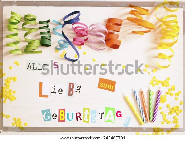 Happy Birthday German Language Stock Photo (Edit Now) 745487701