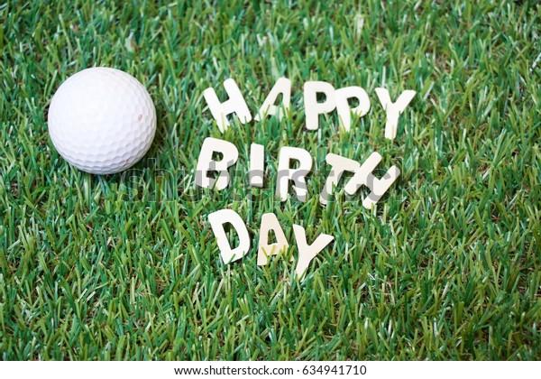 Happy birthday to golfer concept