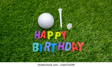 Happy Birthday Golf Images Stock Photos Vectors Shutterstock