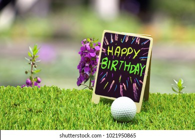 Happy Birthday To Golfer With Golf Course View