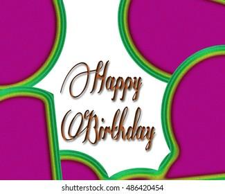 Happy Birthday Greeting card background.