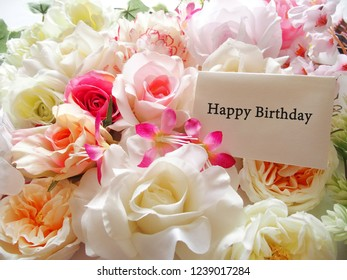 Happy Birthday Greeting Card With Flower