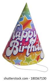 Happy Birthday Hat On White Background