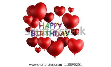Happy Birthday Heart Stock Photo Edit Now 115090201 Shutterstock