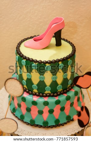 Happy Birthday Or Hen Party Cake Celebration For Woman Girl