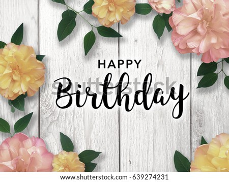 Happy Birthday Message With Flower Border