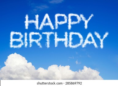 Happy birthday message in the sky