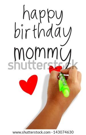 Happy Birthday Mom Greeting Card Stock Photo Edit Now 143074630