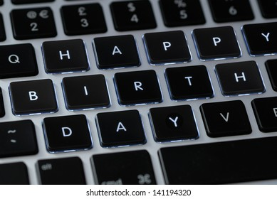 """Happy Birthday"" on a keyboard"