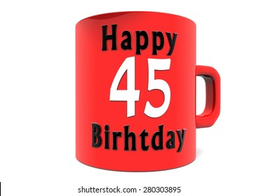 Happy Birthday on a large red cup with a number