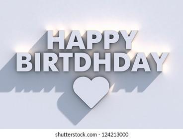 Happy Birthday Typographic Poster