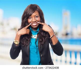 happy black-woman smiling