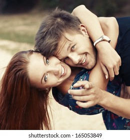 Happy boy and girl