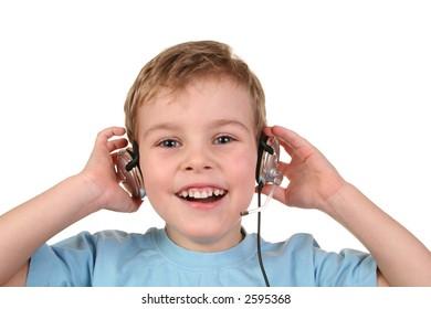 happy boy with headphones 2