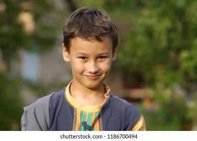 happy boy outdoors