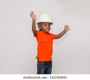 happy boy wearing helmet