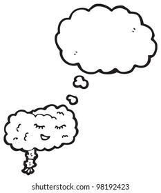 happy brain cartoon