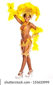 Happy Brazilian Samba dancer