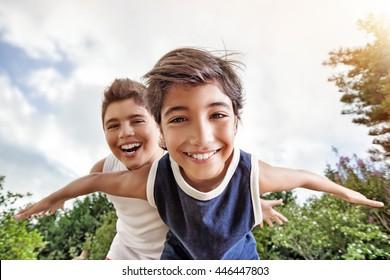 Two boyz playing