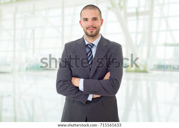 happy business man portrait at the office