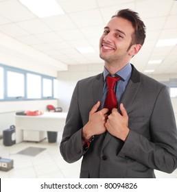Happy businessman portrait
