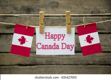 Happy Canada day greeting card or background.