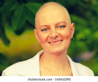 Happy cancer survivor after successful chemotherapy.
