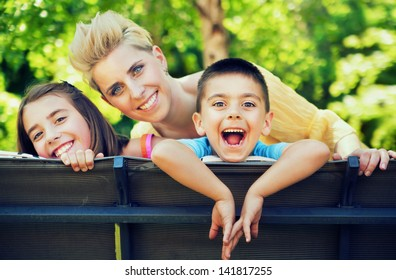 Happy cheerful family