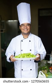 Happy Chef Cooking Healthy Food
