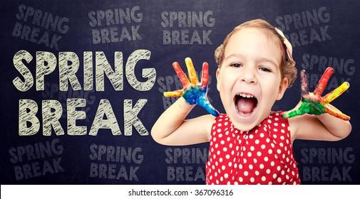 Happy child announcement Spring Break