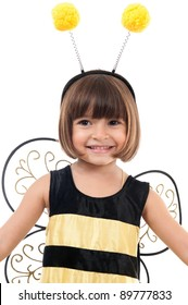 Happy Child with Bee costume