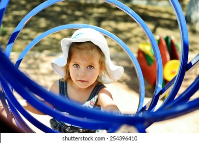 happy child having fun on the playground
