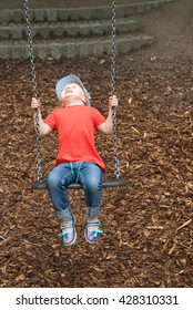 happy child on playground