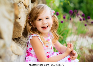 happy child in the spring park