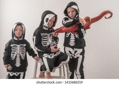 Skeleton Family Halloween Costumes.Skeleton Family Halloween Images Stock Photos Vectors