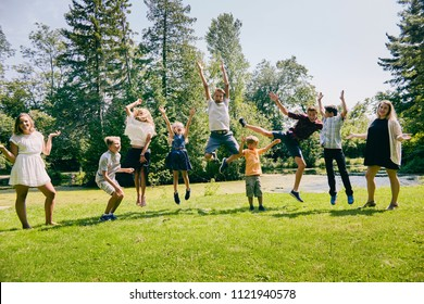 Happy children having fun during summer vacations
