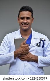 Happy Colombian Male Doctor
