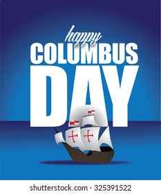 Happy Columbus Day Design. royalty free stock illustration for ad, promotion, poster, flier, blog, article, social media, marketing