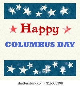 Happy columbus day vintage style