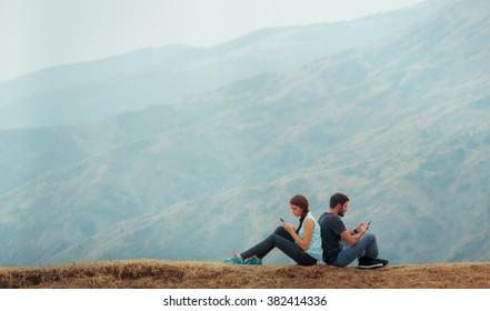 happy couple  background
