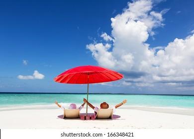 Happy Couple Enjoying On The Vacation